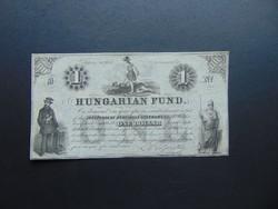1 dollár 1852 B Kossuth bankó