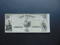 2 forint 1852 C Kossuth bankó Szép bankjegy !