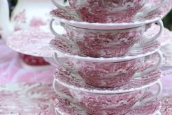 Angol  pink krémleveses csészék