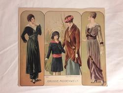 Grosse modenvelt Wien - Berlin 1914 divat kép lithográfia különböző képek