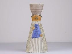 0I402 Jelzett Kiss Roóz kerámia szobor 28 cm