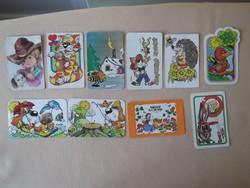 Retro mesefigurás kártyanaptárak gyűjtőknek eladó! (10 db-os csomag)
