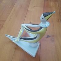 Zsolnay: art deco Bohóc figura