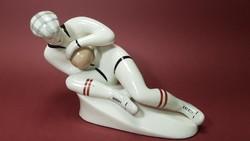 Ritka orosz kapus porcelán figura / art deco jellegű