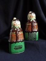 Melcsike765 vásárló részére - Régi karcagi női alakos kerámia italtos palackok párban