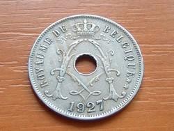 BELGIUM BELGIQUE 25 CENTIMES 1927  #