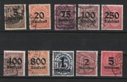 Deutsches Reich 0194  Mi Hivatalos 89-98    120,00 Euró