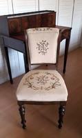 Női romantikus szék ,kézi gobelin kárpittal