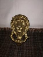 Tömör réz oroszlánfejes ajtókopogtató!