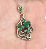 Topaz es Smaragd 2 Tonusu 925 Ezust Medal
