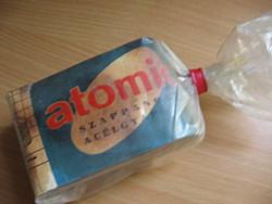 Retro jugoszláv atomic szappanos acélgyapot súroló