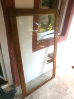 Eladó a képen látható Biedermeier vastagabb dió furnéros fózolt üveges ajtó.