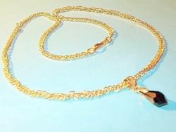 Onix Csepp Ezüst - 18k  Arany medál + ajándék Nyaklánc