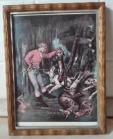 Fényképkeret üvegezve, Courbet nyomattal