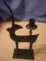 U14 Percz János stílusú ötvösmunka fém gyertyatartó ritkaság