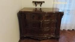 Neobarokk, antik ruhásszekrény, ülőgarnitúra, komód, heverő, dohányzóasztal, fésülködőasztal, tükör