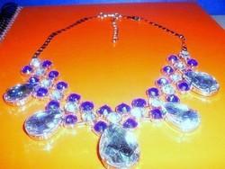 Luxus Swarovski Crystal Csepp női Nyakék