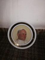 Hollóházi tálka II.János Pál Pápa önarcképével!