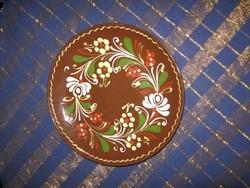 Régi,  kerámia tál, tányér, 22,5 cm (43)