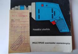 Multimax HBM 250 útmutató és a gép számlája 1975