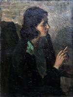 Bárban dohányzó nő! 1920-30 körül!