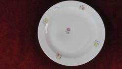 Zsolnay porcelán süteményes tányér, antik, apró virágmintával.