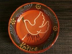 Kassa (kosice) kerámia tányér