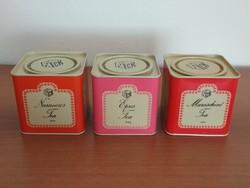 3 db retro, Compack pléh doboz (narancsos, epres, maraschinó teás) eladó