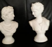 2 db retro gipsz szobor eladó