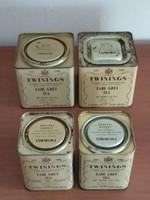 4 db Twinings Earl Grey teás pléh doboz egyben eladó