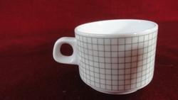 LILIEN porcelán Ausztria, RASPE & SÖHNE zöld kockás kávésbögre. Sauter felirattal. Típusszám: 18.