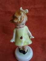 Bodrogkeresztúri katicás kislány sárga masnival