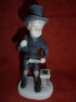 Metzler&Ortloff porcelán kéményseprő figura