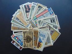 Németország 100 darab pfennig LOT ! Szép bankjegyek