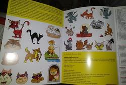 Színes ötletek, macskák, kivehető mintaivekkel. Kreatív hobbi, festés. Ajánljon!