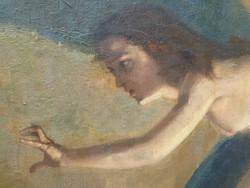 Ferenczy Károly jelzéssel ,olaj vászon antik festmény