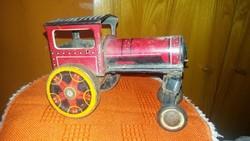 Antik lemez mozdony kuplis