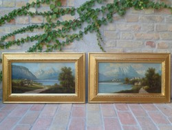 Biedermeier festmény pár, anno ~1850