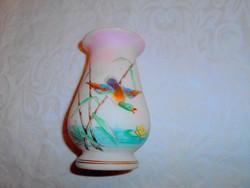 Szecessziós antik kézzel festett opálüveg váza