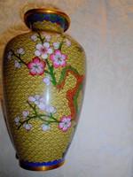 20 cm Tűz zománc-Rekesz zománc (Cloissoné)  váza