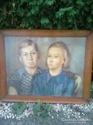 Sopron:Mende Gusztáv-né Lándori Angéla  portré festmény