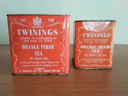 2 db régi, Twinings Orange Pekoe pléh teás doboz eladó