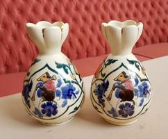 Gyönyörű Steidl Znaim váza párban