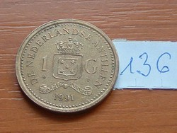 HOLLAND ANTILLÁK 1 GULDEN 1991 136.