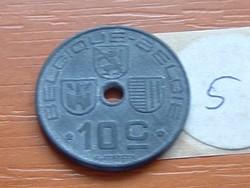 BELGIUM BELGIQUE - BELGIE 10 CENTIMES 1943 WW II CINK 5.