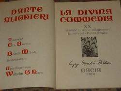 LA DIVINA COMMEDIA   GY.SZABÓ BÉLA 20 FAMETSZET ILLUSZTRÁCIÓJÁVAL 1976
