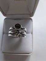Izraeli ezüst gyűrű, kővel, csigával, virággal...