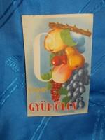 Régi háború előtti gyümölcs reklám képeslap
