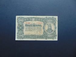 500 korona 1923 Magyar Pénzjegynyomda Rt.