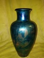 Zsolnay labrador kék eozin váza